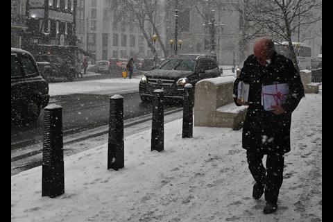 Bundles in the snow